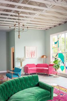 colorful furniture at the fig house designed by emily henderson. / sfgirlbybay