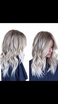 Ash blonde soft balyage