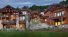 Architecrural complex home Style At Home, Mountain House Plans, Chalet Style, Mountain Style, Timber House, Log Homes, Utah, Cabin, House Styles