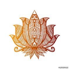 Vector: Vector Indian hand drawn hamsa with ethnic ornaments. Beautiful India ethnica ornament. Folk Henna tattoo style
