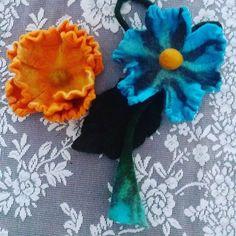 #keçe #feltingwool #feltflowers