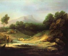 Mountain Landscape with Shepherd, 1783 - Thomas Gainsborough Thomas Gainsborough, Mountain Landscape, Landscape Art, Landscape Paintings, Landscapes, William Turner, Dante Gabriel Rossetti, John Everett Millais, Kunst Poster