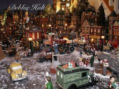 a section of my own debbie holt department 56 christmas in the city village display