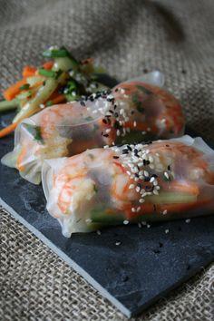 Závitky z rýžového papíru s krevetami a zeleninou:  Jednoduchý předkrm vás jistě osvěží a vzbudí touhu po dalším soustu. Závitky mohou být i působivou lahůdkou na vaší party.