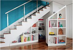 Full size of under stairs shelves basement staircase storage design shelf ikea modern hallway with ideas Shelves Under Stairs, Space Under Stairs, Stair Shelves, Staircase Storage, Under Stairs Cupboard, Stair Storage, Hidden Storage, Extra Storage, Secret Storage