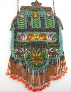 Circa 1900 Micro Beaded Handbag.
