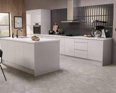 Kitchen Cabinet Colors, Kitchen Units, Open Plan Kitchen, Kitchen Ideas, Kitchen Trends, Design Your Kitchen, Contemporary Kitchen Design, Cashmere Kitchen, Wren Kitchen