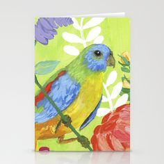 Jungle Parakeet Stationery Cards
