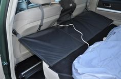 Extend-a-Seat to create longer sleeping space Truck Camping, Camping Glamping, Van Camping, Camping Stove, Camping Hacks, Camping Gear, Backpacking, Mini Camper, Suv Camper