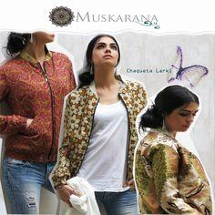 Chaqueta ligera para mujer confeccionada con tejidos tradicionales de la India.Seda-PoliésterInterior 100% Algodón