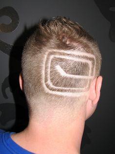 PlayOffs Hair Tattoo! Go Canucks!