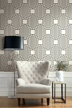 Bento from the Jasmine Collection A bold black and white geometric.
