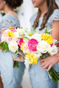 pretty florals! bm dresses