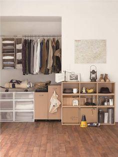 MUJI Style Bedroom: so simple yet beautiful! Style Muji, Maison Muji, Muji Furniture, Muji Storage, Muji Home, Hm Home, House Blueprints, Fashion Room, Houses