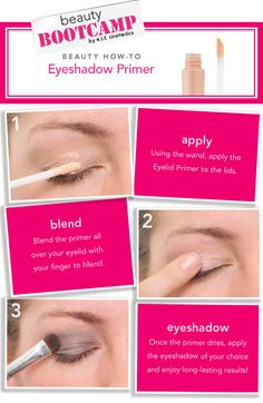 how to: EYESHADOW PRIMER...make sure you wait till primer dries.