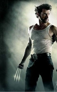 Hugh Jackman-wolverine in fighting stance