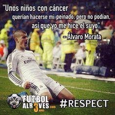 Exemplo de Civilidade e Respeito, parabéns Alvaro Morata (football player, Real Madrid)!!!