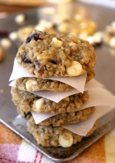 Soft & chewy White Chocolate Cranberry Oat Cookies– these are a copycat Great Harvest Bakery recipe!