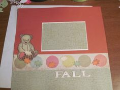 Fall page 1 layout for baby album - Scrapbook.com