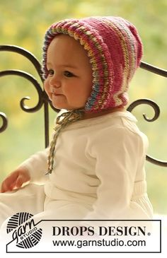 Baby - Free knitting patterns and crochet patterns by DROPS Design Crochet For Boys, Knitting For Kids, Cute Crochet, Free Knitting, Knit Crochet, Crochet Hats, Baby Knitting Patterns, Baby Patterns, Crochet Patterns