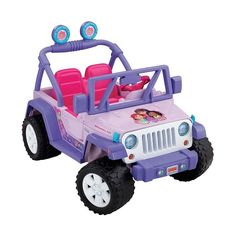 Power Wheels Dora and Friends Ride-On Jeep Wrangler by Fisher-Price, Multicolor