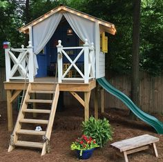 some of our favorite, super inspiring reader versions of the handmade hideaway. - handmade hideaway - reader love - The Handmade Home Backyard For Kids, Backyard Projects, Forts For Kids Outdoor, Kids Yard, Backyard Playhouse, Backyard Fort, Diy Easy Playhouse, Playhouse For Kids, Easy Diy Treehouse