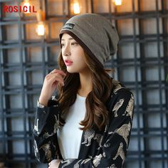 e1d88a76c59 Click to Buy    ROSICIL Beanie Hats For Women Beanies Autumn And Winter.
