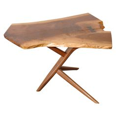 George Nakashima Conoid Cross-Legged End Table | From a unique collection of antique and modern end tables at http://www.1stdibs.com/furniture/tables/end-tables/