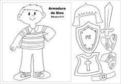 La Armadura De Dios Al Imprimir Recorte Y Pinte Las Piezas De Tal