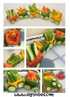 Vegetable Train A Fun Party Food Idea snack food buffet ideas simply and easy to make. Kids party fun More Vegetable Train A Fun Party Food Idea snack food buffet ideas simply and easy to make. Baby Food Recipes, Snack Recipes, Party Food Buffet, Snacks Für Party, Party Fun, Ideas Party, Peppa Pig Party Ideas, Baby Party Foods, Super Party