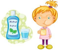 The use of fluoride mouthwash is recommended for children ages 7 and older, provided the child can perform the activity. Keep in mind that mouthwash is a rinse, NOT a beverage! One way to test if your child is ready for mouthwash is to fill a cup with a small amount of water, have them rinse and spit the water back out into the cup. If they were able to spit all the water back into the cup, they are ready to use mouthwash!