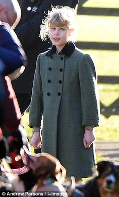 Queen Elizabeth II and family attend church services at Sandringham estate 12/29/2013: Lady Louise Windsor