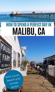 One day itinerary to see the best of Malibu, California. Best things to do in Malibu in a day, Malibu Pier, best Malibu beach to watch the sunset Malibu California, California With Kids, Malibu Pier, California Honeymoon, Malibu Beach House, Malibu Beaches, California Travel, Ventura California, Visit Santa Barbara