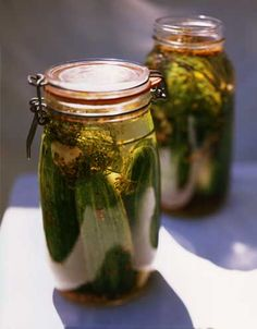 Refrigerator pickles.  This recipe is SO easy and delicious...and pretty :)
