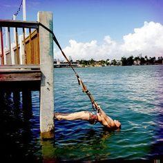 Entrenamiento al borde del agua