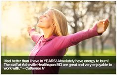 at Asheville Healthspan MD. Bioidentical Hormones, Hormone Replacement Therapy, I Feel Good, Asheville, Feel Better, Medicine, Feelings, Medical, Medical Technology