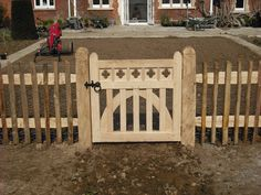 Metal Gates, Wooden Gates, Garden Gates And Fencing, Fences, Woodworking Inspiration, Woodworking Projects, Deck Gate, Tree Bench, Entry Gates