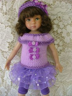 """Buttons Bows for Your Dianne Effner 13"""" Lil Darling and Other Same Size Dolls 