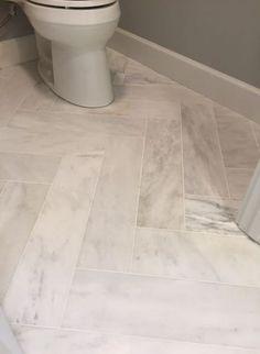 Ideas For Bathroom Floor Tile Herringbone Grout Ideas For Bathroom Floor Tile Herringbone Grout - Marble Bathroom Dreams Floor Grout, Tile Floor Diy, Marble Bathroom Floor, Stone Bathroom, Bath Tiles, Hall Bathroom, Upstairs Bathrooms, Bathroom Flooring, Master Bathroom