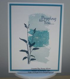 Simple two colour design using Work of Art stamp set (new for 2014 from Stampin' Up!) http://tracyelsom.stampinup.net