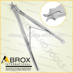 Model Number: AI-PP-111  Stainless Steel Ring opening Piercing plier Rings up to 8 mm. Inner diameter of 16 to 19 mm can be opened with this pliers. This Pliers is best for Bead Workers, Wire Wrap Artists, Traditional Jewellery Making, Beading and other fine Hobby Work.