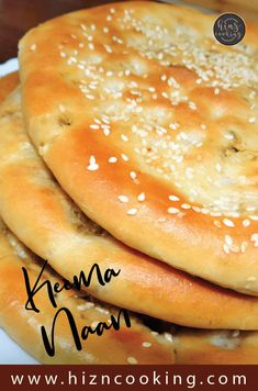 Keema Naan Recipe - Keema Stuffed Naan - How to Make Keema Naan Indian Food Recipes, Gourmet Recipes, Vegan Recipes, Cooking Recipes, Halal Recipes, Naan Bread Recipe Easy, Recipes With Naan Bread, Keema Recipes, Recipes For Beginners