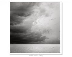Storm Photography Ocean Art Black and White by MaggyMorrisseyPhoto
