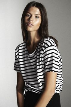 love our #bassike heritage stripe tees. http://www.superette.co.nz/womens-stripe-heritage-crew-neck-t-shirt-black-white.html
