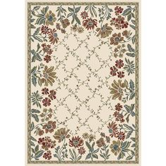 """Dynamic Rugs Ancient Garden Persian Ivory Area Rug Rug Size: 9'2"""" x 12'10"""""""
