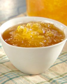 """This delicious pineapple jam is perfect for spreading on toast and can also be used as the foundation for sweet-and-sour sauce or a glaze for roasted meats. From the book """"Lucinda's Authentic Jamaican Kitchen,"""" by Lucinda Scala Quinn (Wiley). Jelly Recipes, Jam Recipes, Canning Recipes, Dessert Recipes, Desserts, Chefs, Pineapple Jam, Martha Stewart Recipes, Jam And Jelly"""