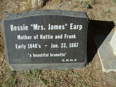 """Nellie """"Bessie"""" Earp (born BARTLETT). Bessie was the mother of Frank and Hattie Catchim/Ketchum Land. Frank being killed by Apaches in Cochise County, AZ in 1891 and Hattie becoming the wife of a very powerful cattle baron, William Land of Douglas Arizona."""