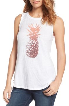 Main Image - Lucky Brand Pineapple Graphic Tank