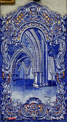 Mosaic Tiles, Wall Tiles, Blue Pottery, Portuguese Tiles, Blue Tiles, Art Drawings, Blue And White, Wallpaper, Gallery