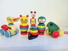 Vintage Brio Animals Sweden | von JO JE BIN Brio Toys, Wood Carving Tools, Toy 2, Wooden Toys, Sweden, Geography, Animals, Vintage, Home Decor